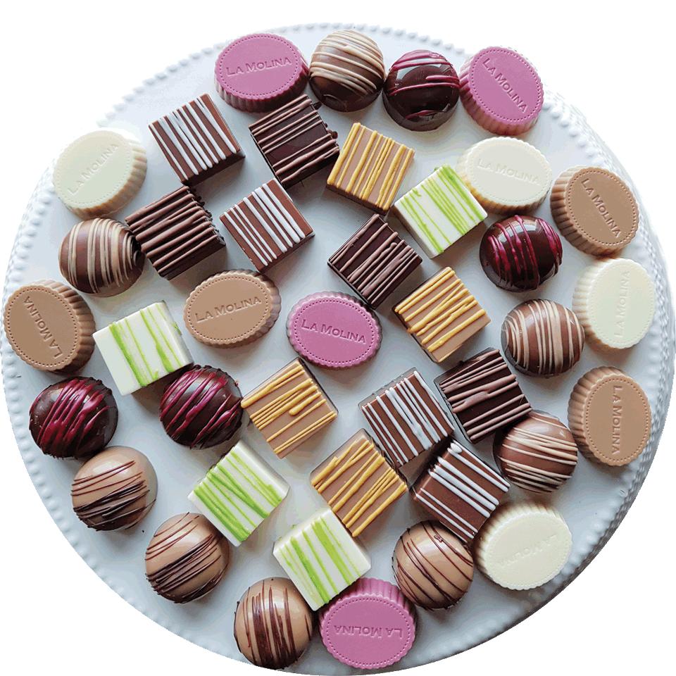vassoio praline cioccolato artigianale la Molina