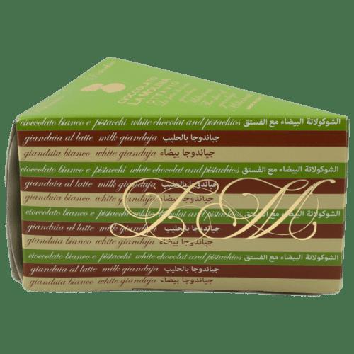 Ottavio - gianduia al latte, cioccolato bianco e pistacchi, gianduia bianco