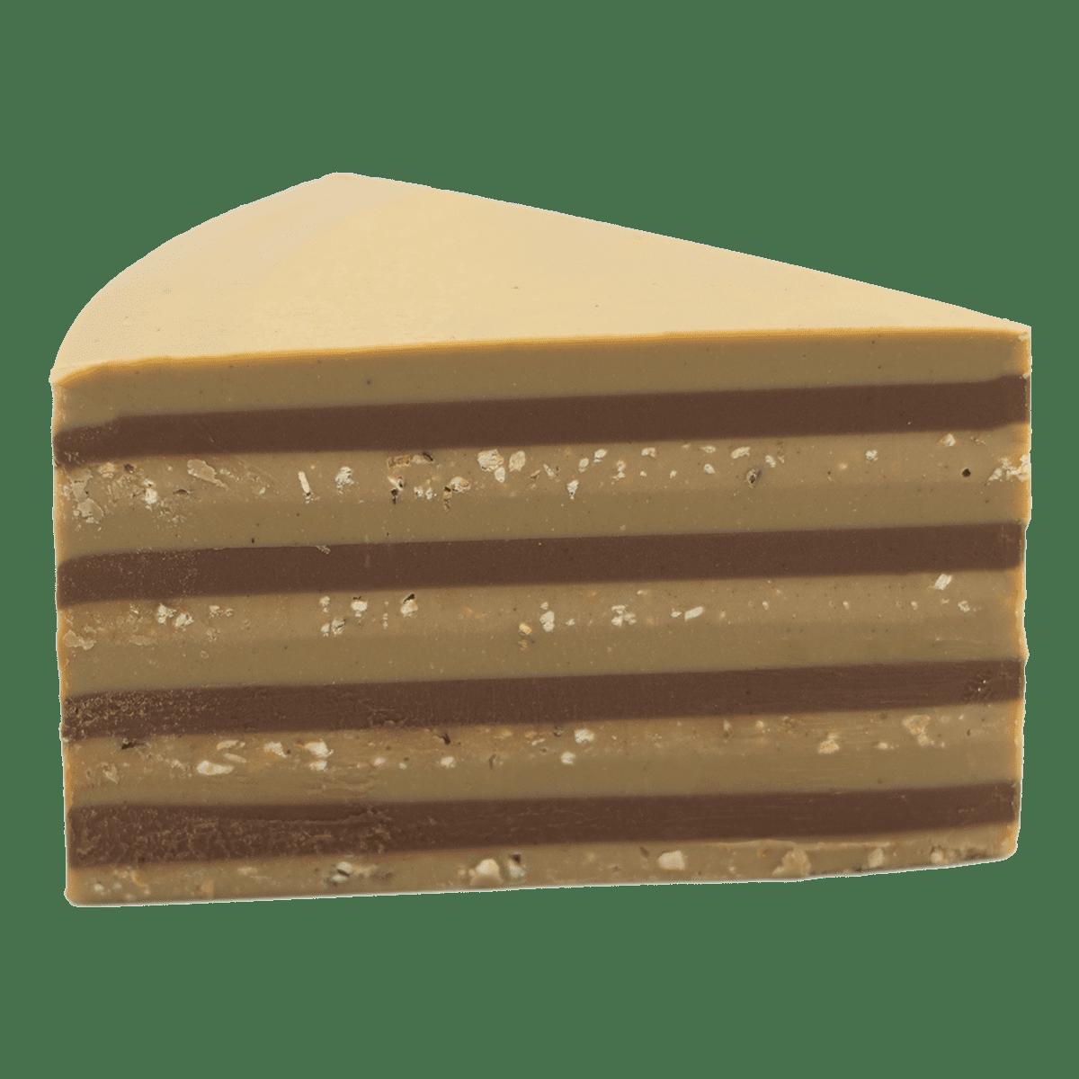 Ottavio gianduia al latte, cioccolato bianco e pistacchi, gianduia bianco
