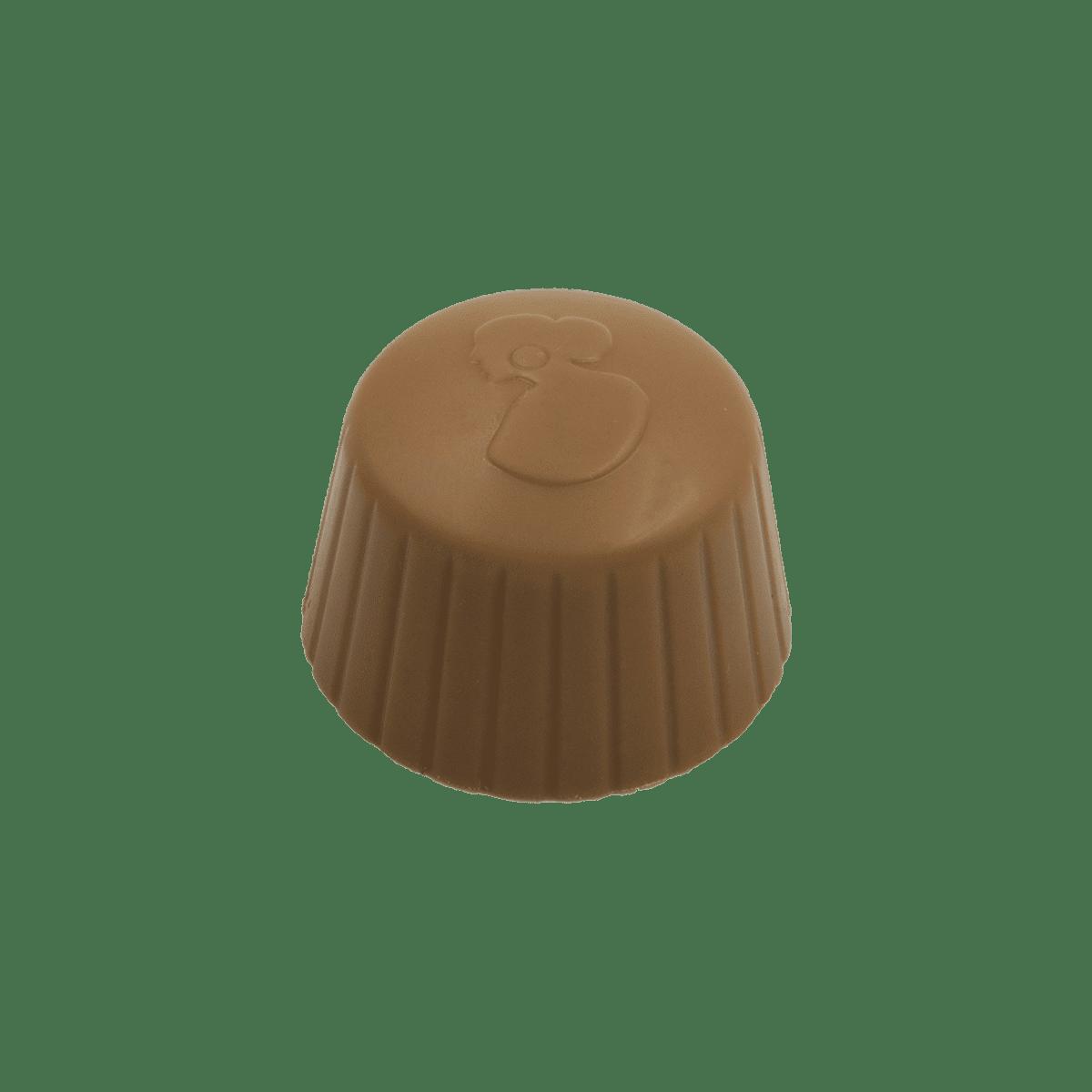 Pralina di Cioccolato oro con ripieno di gianduia salato croccante
