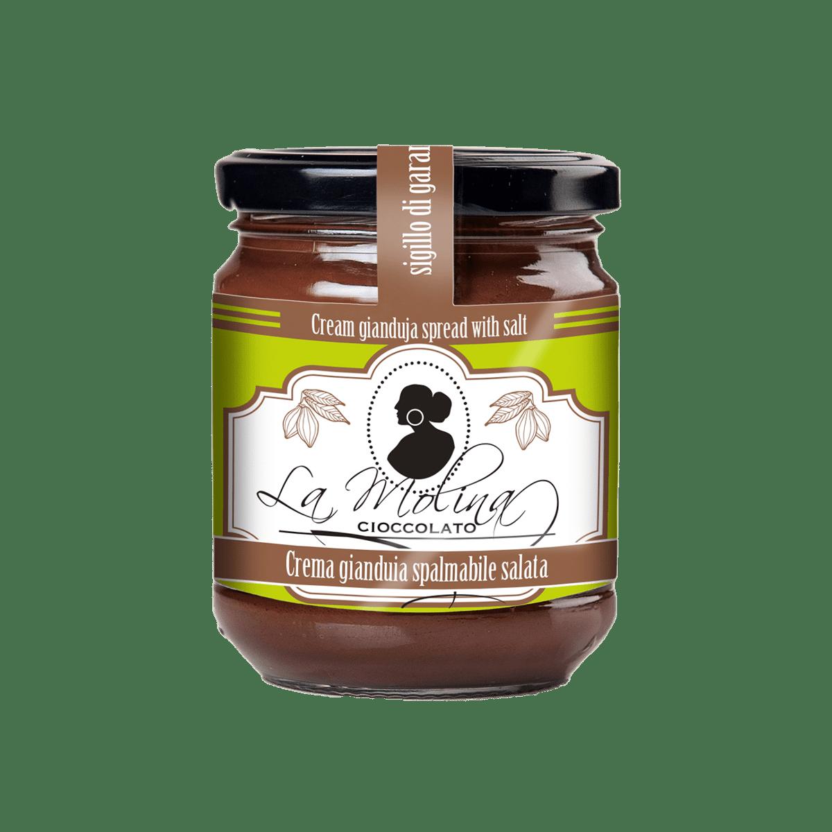 crema gianduia spalmabile salata